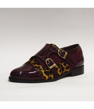 Zapato leopardo hebillas